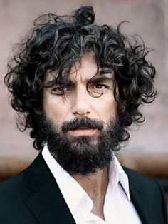 Paraskevas Boubourakas, very cool dude. Epic Beard. Also been walking for Missoni for a few seasons, Yojhi Yamamoto, Berluti and others.