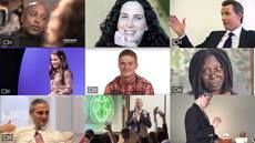 Montage of video clips and articles from personal stories