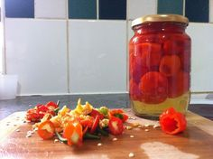 Picture of Sweet Pepperdew Peppers Jam Recipes, Canning Recipes, Healthy Recipes, Recipies, Healthy Food, Pepper Recipes, Sauce Recipes, Pickled Pepper Recipe, Peppadew Peppers