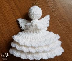 JOY Crochet Angel Free Pattern...This is one of the prettiest crochet angels I've seen this year!!..would make fantastic presents!!