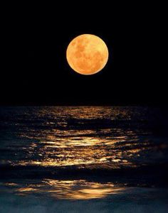 Stunning moonlight night over the sea. All praise be to the Sole Creator, Allah The Almighty!