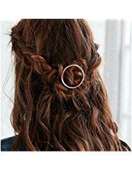 Joyci 1Pcs Creative Hoop Round Ponytail Holder Women's... ** This is an Amazon Affiliate link. Check this awesome product by going to the link at the image.
