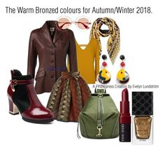 """The Warm & Bronzed colours for Autumn/Winter 2018"" by firstimpress on Polyvore featuring Versace, Hermès, Gucci, Rebecca Minkoff, Giorgio Armani and Bobbi Brown Cosmetics"