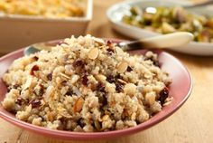 Quinoa Pilaf with Cranberries and Almonds // Quinoa is naturally wheat & gluten-free and is a good source of complete protein for vegans and vegetarians! #HealthYeah