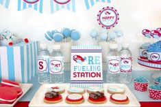 Refueling station at an airplane birthday party! See more party ideas at CatchMyParty.com!