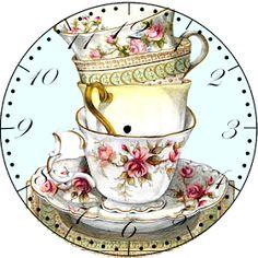 Decoupage Vintage, Vintage Diy, Decoupage Paper, Vintage Ephemera, Vintage Paper, Vintage Clocks, Diy Image, Clock Face Printable, Paper Clock