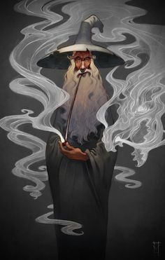 """We would love to have Victor Maury's (Ringling College of Art and Design current student) work at our madeby Gallery in Sarasota, FL. This is one of the many beautiful pieces of his. Digital Illustration entitled """"Gandalf Stormcrow""""."""