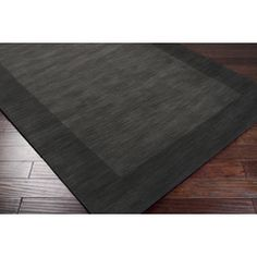M-347 - Surya | Rugs. Mystique M-347. 100% Wool, Hand Loomed, Made in India, Custom Sizes Available, Medium Pile, Minimal Shedding, Carved. Color (Pantone TPX): Black(19-0303), Charcoal(19-3803). 6x9.