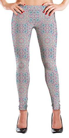 MyLeggings Buttersoft Printed Leggings Cute Mandala  XSmall -- Visit the image link more details.