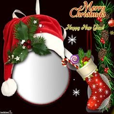 Merry Christmas Photo Frame, 3d Christmas, Christmas Frames, Christmas Pictures, Christmas Greetings, All Things Christmas, Christmas Cards, Christmas Decorations, Winter Holidays