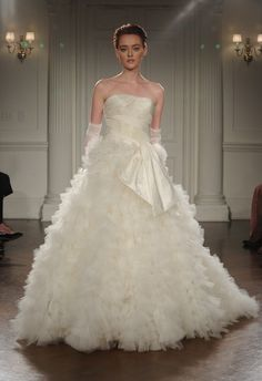Peter Langner Spring/Summer 2015 wedding dress | Kurt Wilberding | The Knot blog