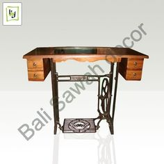 Table from old sewing machine table..nice improvement when your goods doesn't work anymore.