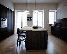 masculine apartment interior design by Fabio Fantolino