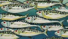 I love everything about this print! #FillMeWith / Mackerel - Lino print. www.dorsetvisualarts.org