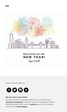 Holiday Wishes from SumAll - Really Good Emails