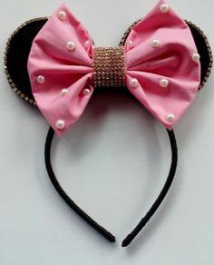 Tiara Minnie com Laço e Strass!!!  Pode ser feita com o laço vermelho também!!!