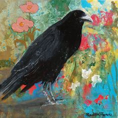 Mystery at Every Turn Crow Art Reproduction. via Etsy.