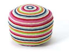 This colourful crocheted stool from Urchin would be super cute in a kid's bedroom or (even better!) my craft room, don't you think?