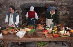 People preparing a medieval style meal#MedievalJousting #JustJoustIt