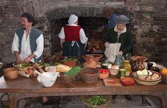 People preparing a medieval style meal#MedievalJousting #JustJoustIt