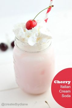 Cherry Italian Cream Soda Recipe @createdbydiane