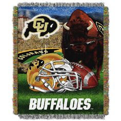 NCAA Northwest Tapestry Throw Blanket Colorado Buffaloes - 48 x 60 Pattern: Sports. NCAA Northwest Tapestry Throw Blanket Colorado Buffaloes - 48 x 60 Colorado College, University Of Colorado, Tapestry Weaving, Hanging Tapestry, School Spirit, North West, Buffalo, Vibrant Colors, Colors