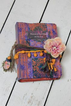 This beautiful 9x6 inch hand bound book celebrates colour with a bohemian Andalusian and Moroccan look. The hardback cover has a tile effect