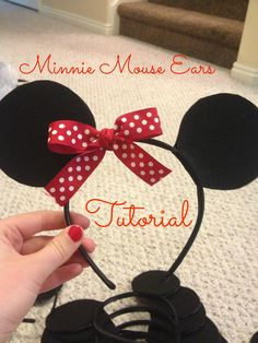 minnie mouse headband tutorial More