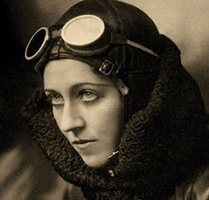 """I don't know why I love this picture of Amy Johnson but I do.  -  Wikipedia - """"Amy Johnson(1 July 1903 – 5 January 1941) was a pioneering English aviator. Flying solo or with her husband, Jim Mollison, Johnson set numerous long-distance records during the 1930s. Johnson flew in the Second World War as a part of the Air Transport Auxiliary where she died during a ferry flight."""""""