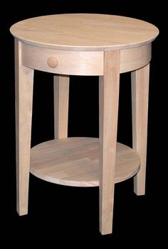 M74 Ot 2128 Phillip Bedside Table Unfinished Furniture Wood Bedroom