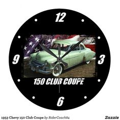 1953 Chevy 150 Club Coupe Large Clock