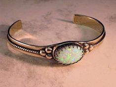 Lab Created White Black Opal handmade red orange yellow blue green Sterling Cuff Bracelet fine jewelry Unisex custom size 6 6.5 7 7.5 8 8.5