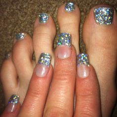 My sparkly toe nails, not the finger nails Pink Holographic Nails, Glitter Gel Nails, Sparkly Nails, Toe Nail Art, Toe Nails, Nail Lacquer, Nail Polish, Gorgeous Nails, Pretty Nails