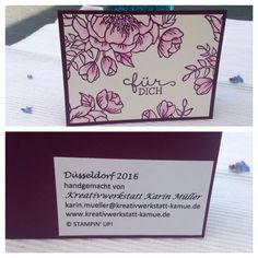 Meine ertauschten Swaps OnStage Düsseldorf 2016 Stampin'up Danke an alle für die bezaubernden und vielfältigen Ideen