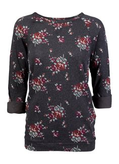 Obey Echo Mountain Sweater.  Relaxed fit crew neck fleece made of lightweight soft French terry. Leopard is our custom leopard print and Heather Navy has a rose floral all-over print. Works great for layering.