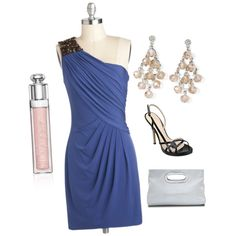 A fashion look from August 2013 featuring blue a line dress, gold platform shoes and real leather purses. Browse and shop related looks. Nine West, Christian Dior, Champagne, Michael Kors, Formal Dresses, Sassy, How To Wear, Stuff To Buy, Shopping