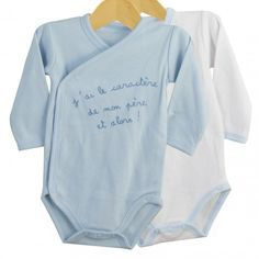 """Pack of 2 baby cross over bodysuits """"Father temper"""" #pack #2bodysuits #crossover #fathertemper"""