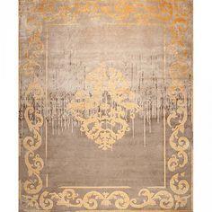 Узелковый ковер ручной работы Amiral Autumn Shadow Vintage от французской коллекции #дизайн #интерьер #ковер #ковры #дизайнинтерьер