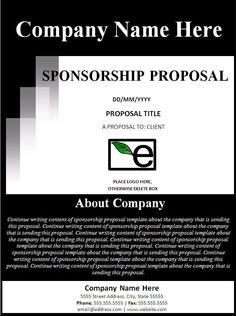Dissertation proposal on sponsorship