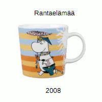 Moomin Mug - On the Beach - Arabia Finland Summer 2008 My Coffee, Coffee Cups, Finland Summer, Moomin Mugs, Tove Jansson, The Beach, Plates And Bowls, Marimekko, Ceramic Cups