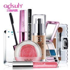 Qdsuh Makeup Set Kit BB Cream Eyeshadow Lip Gloss Powder Blush Mascara Cosmetic  Base Primer Foundation Concealer  Pencil Brush
