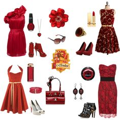 Night on the Town - Gryffindor, created by imnotpaulavery on Polyvore