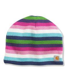 Pink & Blue Stripe Beanie