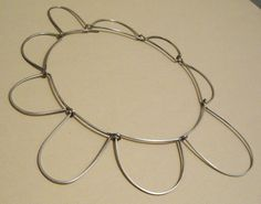 Betty Cooke Modernist Sterling Abstract Necklace