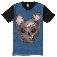 A Zombie Mouse Head Shirt design #zombie #mouse #mouse #head #evil #mouse #cartoon #mouse #head #zombie #fantasy #horror #science #fiction #cartoon #illustration #eric #allen #rajee
