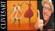 Easy Dancing Girls, Acrylic painting for beginners,#clive5art