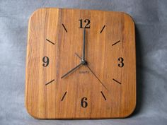 Teak wall clock