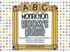 3rd Grade Thoughts: Revised Bloom's Taxonomy Bundle {Posters + Nonfiction Brochures}