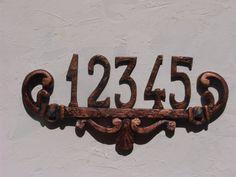 House numbers with plate up to 5 numbers by FabbriCreations