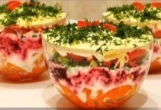 Очень вкусный и красивый слоеный салат с болгарским перцем - be1issimo.ru
